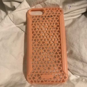 Pink criss cross iPhone plus phone case